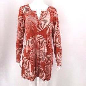 DIANE VON FURSTENBURG Dress 14 Silk Orange Mod